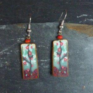Boucles d'oreilles Cerisier