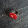bague plateau rouge